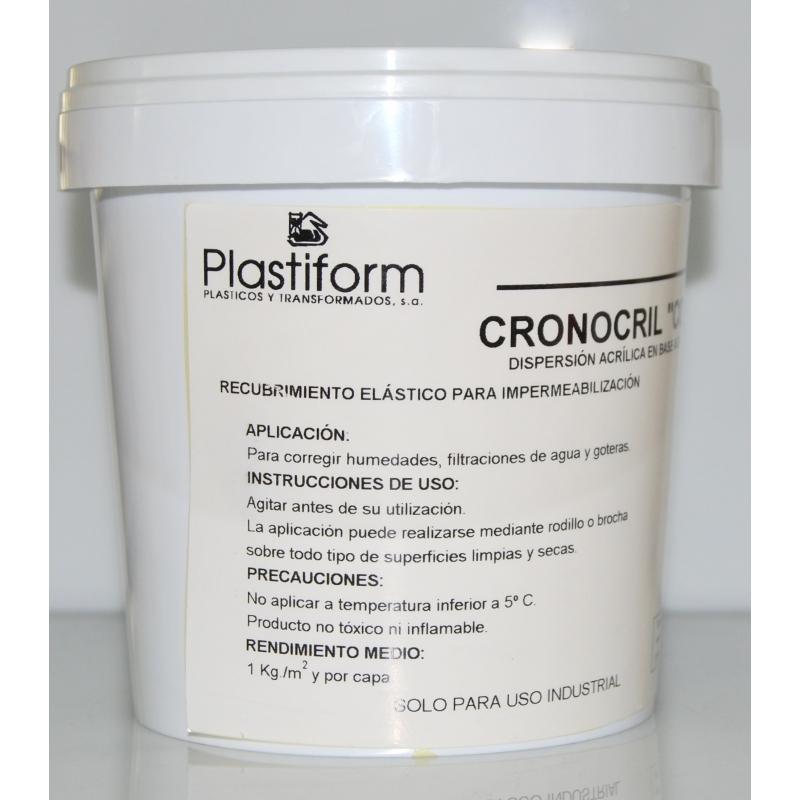 Impermeabilizante Cronocril blanco fachadas 5 y 20 kg