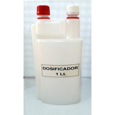Botella dosificadora doble boca