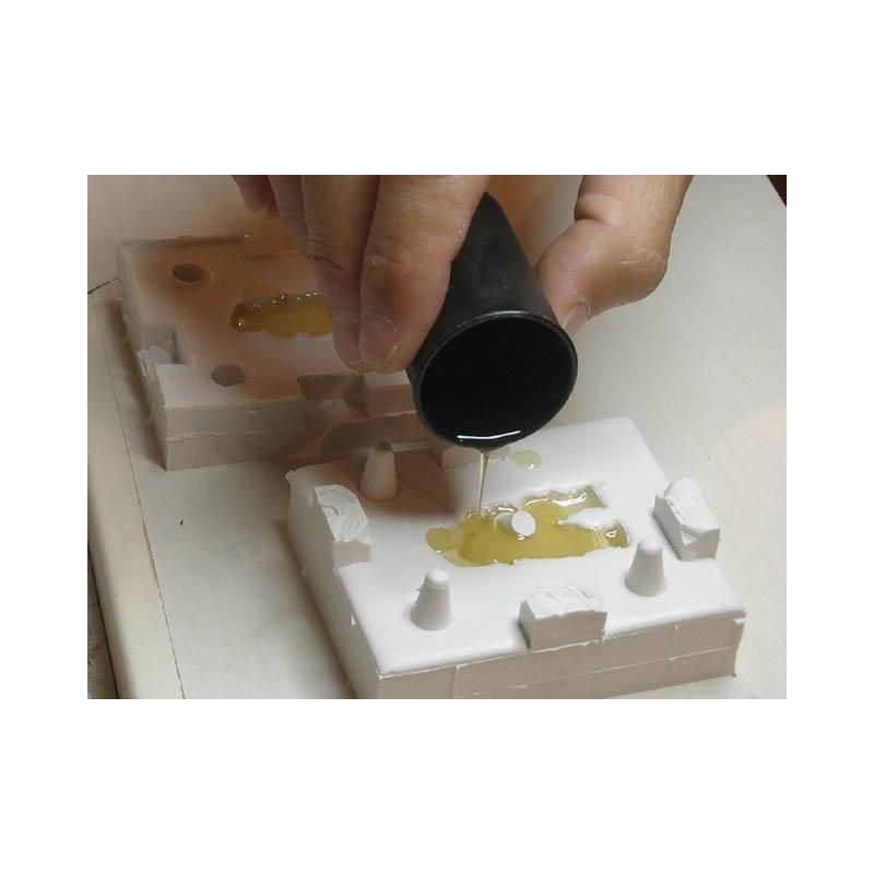 Kit moldeo con silicona y resina de poliuretano - Silicona de poliuretano ...