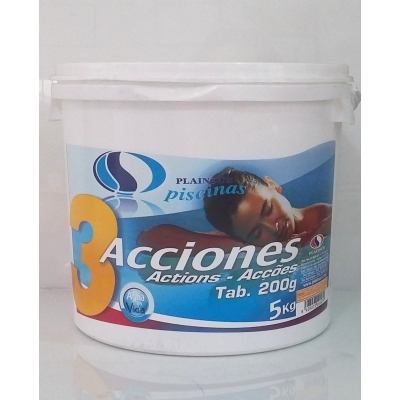 Cloro T-200 3 acciones. Desinfectante-Algicida-Clarificante