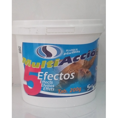 Cloro T-200 5 acciones.Desinfectante-Algicida-Clarificante-Estabilizador de cloro-Antihongos