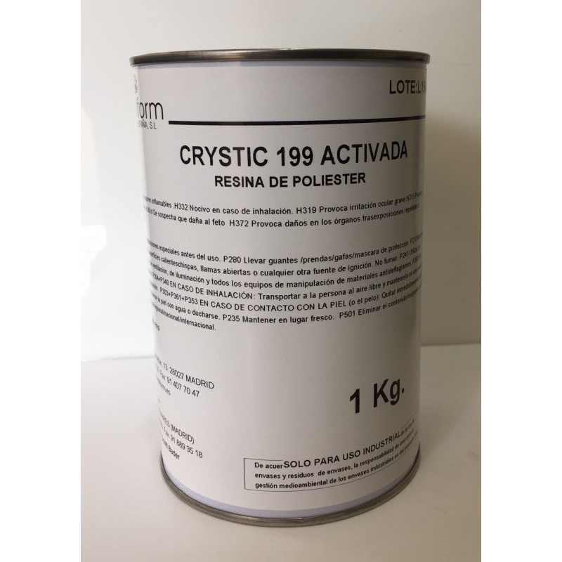 CRYSTIC 199 ACTIVADA. NO INCLUYE CATALIZADOR.