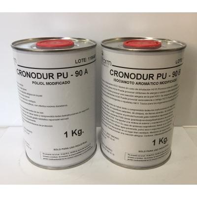 Kit CRONODUR PU-90 (A+B) Resina POLIURETANO RIGIDO rapido coladas