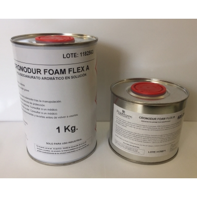 Kit Cronodur FOAM FLEX (A+B) espuma de poliuretano FLEXIBLE.