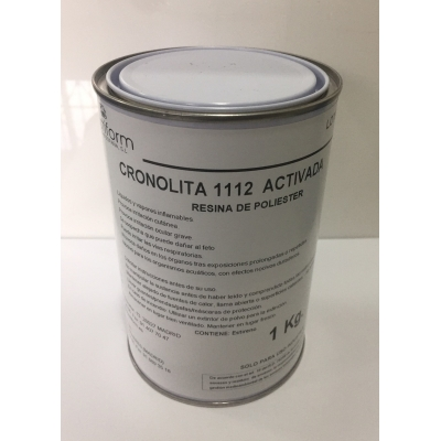 Resina de poliester parafinada para laminar con fibra de vidrio