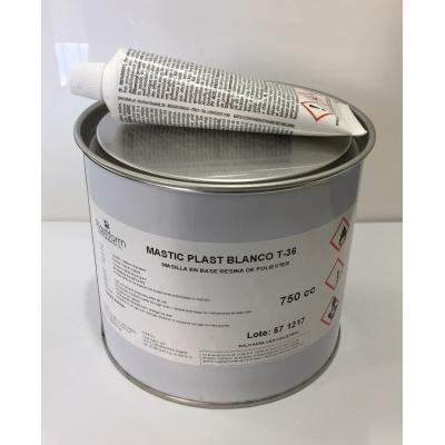 Masilla tixo blanca Mastic Plast T-36 + Catalizador