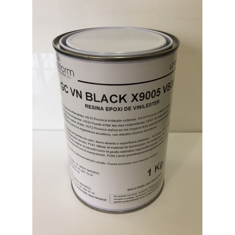 Gelcoat Vinilester negro para moldes de alto rendimiento VB 30*