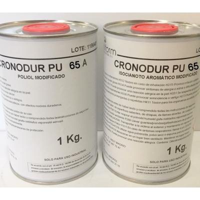 Kit CRONODUR PU-65 (A+B) Resina POLIURETANO RIGIDO rapido coladas